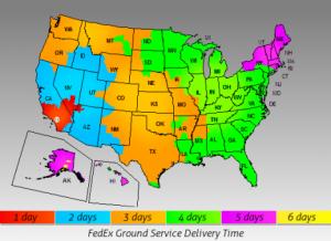 משלוח גלובאלי בכל רחבי ארצות הברית